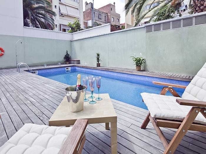 private terrace and swimming pool apartment - barcelona