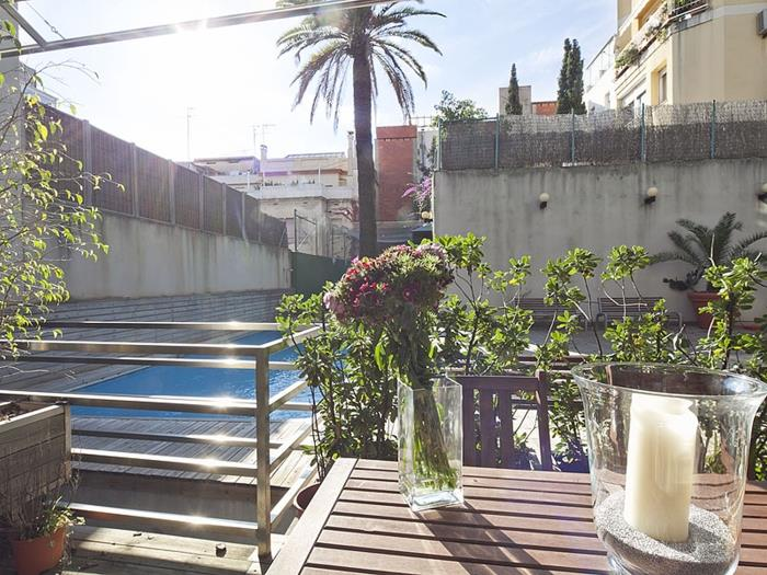 duplex apartment for rent in barcelona with pool - barcelona