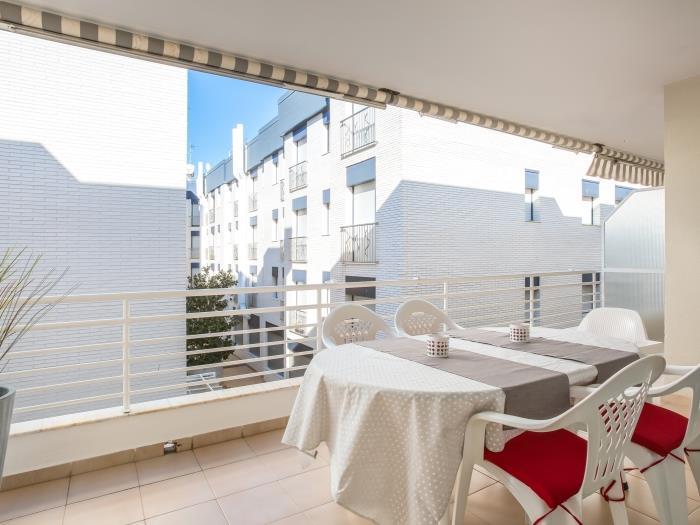 white apartment w/terrace, ac, parking, near beach - tossa de mar