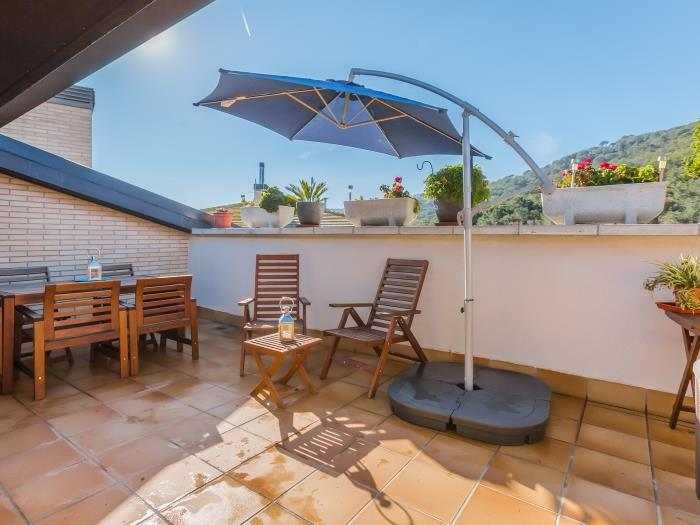 shining apartment with terrace and pool - tossa de mar