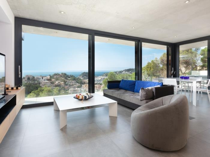 modern pool house sea views, parking next beach - tossa de mar