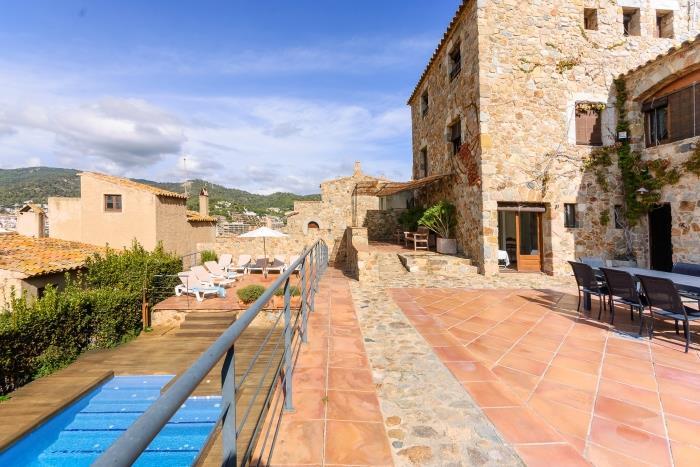 villa pandora luxury rustic house with pool - tossa de mar