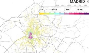 Mapa de la turistificación en Madrid