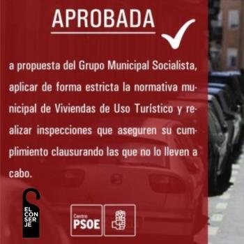 El PSOE y las viviendas de uso turístico